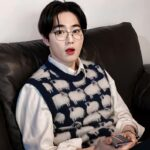 Navy Blue Sheep Sweater Vest   Suho -EXO