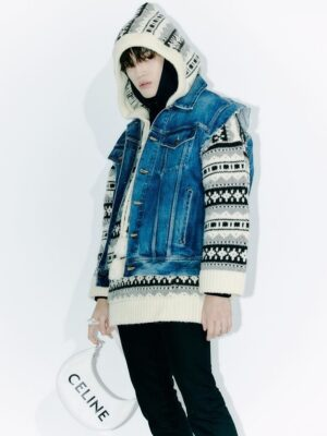 Knitted Aztec Hoodie | Taeyong – NCT