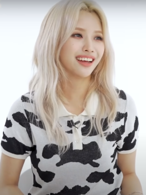 Black And White Cow Pattern Shirt | Soyeon – (G)I-DLE