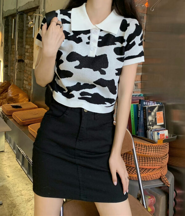 Black And White Cow Pattern Shirt   Soyeon – (G)I-DLE