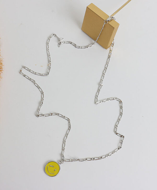 Yellow Smiley Face Necklace | Taehyung – BTS