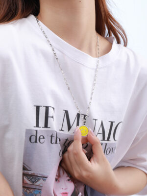 Taehyung – BTS – Yellow Smiley Face Necklace (3)