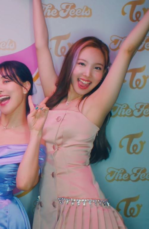 Pink Double Breasted Pleated Dress   Nayeon – Twice